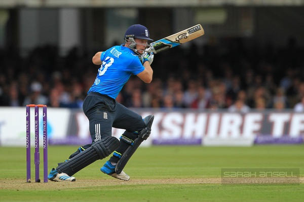 Jos Buttler of England bats during the Royal London One-Day Series 2014 match at Lord's Cricket Ground, London Picture date Saturday 31st May, 2014. Picture by Sarah Ansell. Contact +447860 461617 cricpix@yahoo.co.uk