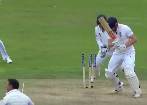 Yasir Shah dismisses Jonny Bairstow at Lord's (via ecb.co.uk YouTube)