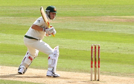 Michael Clarke not hitting a cricket ball