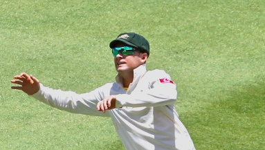 Michael Clarke doing some vigorous captaincy