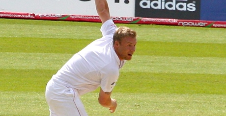 Andrew Flintoff takes his helium-dog for a walk