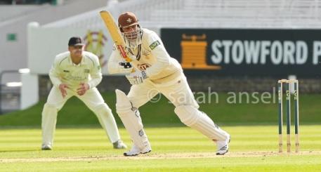 Mark Ramprakash hitting one ball - he did hit others