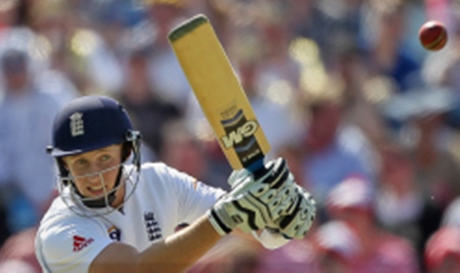 Joe Root has cricketsed the cricket using a bat