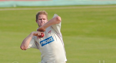 Matthew Hoggard completely having it with that there bowling like