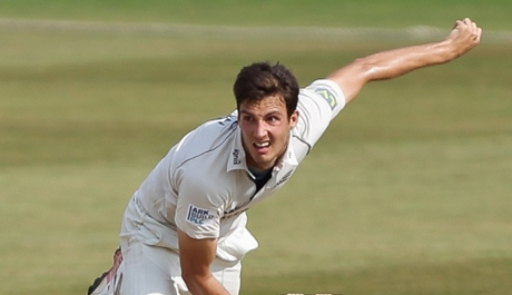 Steven Finn bowling a massive wide at 72mph - probably