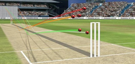 Have you seen Cricinfo's Hawkeye tool?