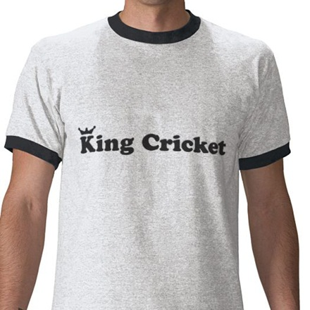 King Cricket ringer T-shirt - when did 'ringer' become a thing?