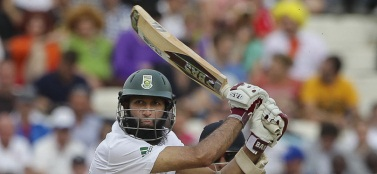 Hashim Amla's face and cricket bat