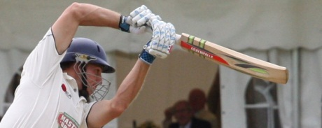 Ryan McLaren successfully pulls the bat from the stone