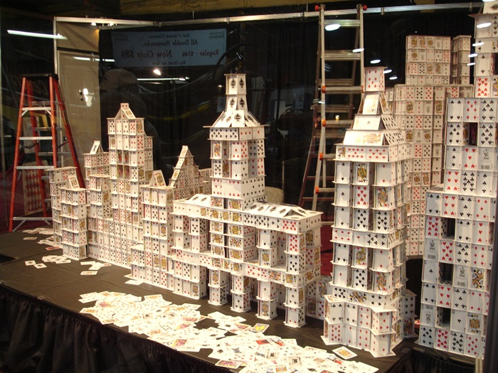 Giant house of cards (CC licensed by Tjflex2 via Flickr)