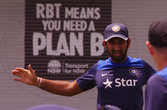 Cheteshwar Pujara (CC licensed by Naparazzi via Flickr)