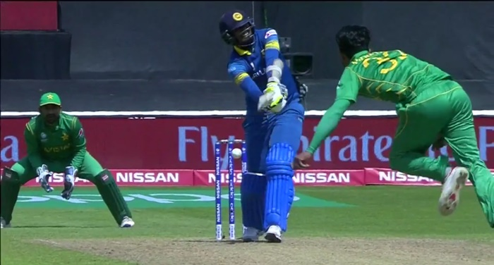 Hasan Ali dismisses Suranga Lakmal (via ICC)