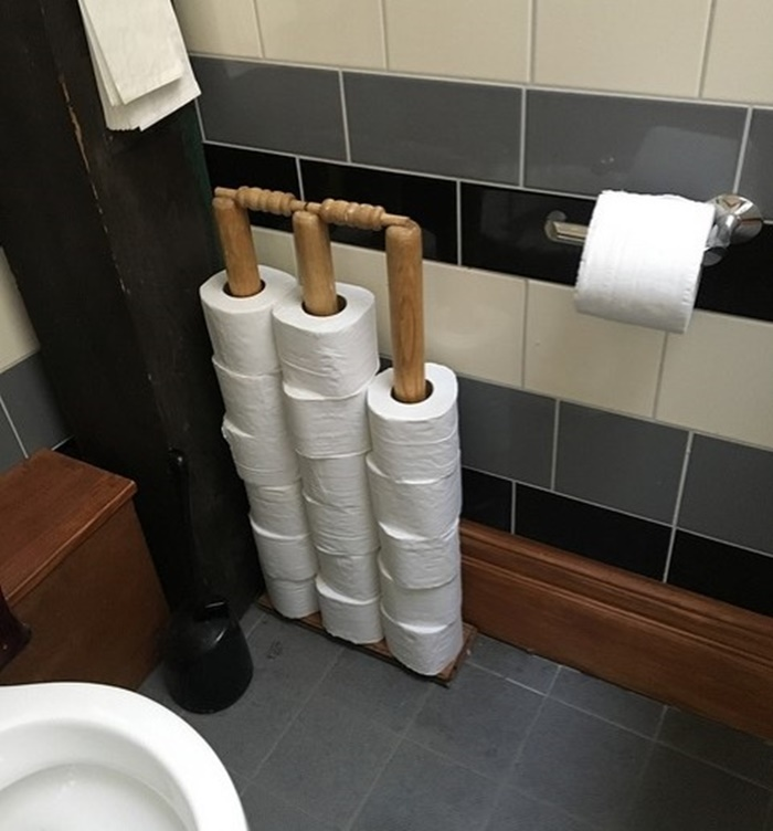 Stumps in a Salford toilet