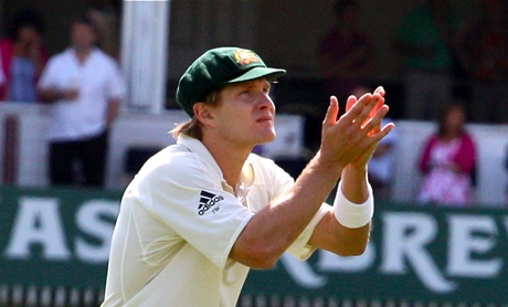 Shane Watson - just look at his tear-stained albino face