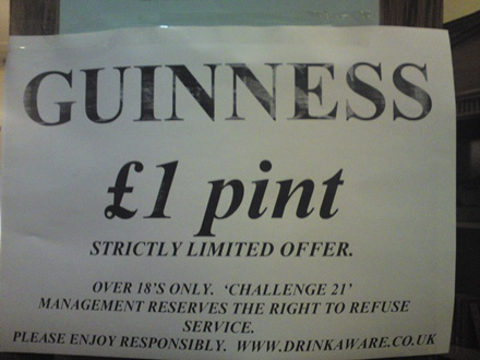 Remember when pound a pint was 'a thing'