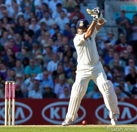 Sachin Tendulkar playing cricket