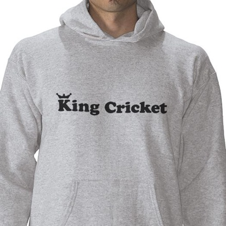 King Cricket hooded top doesn't get a funny caption