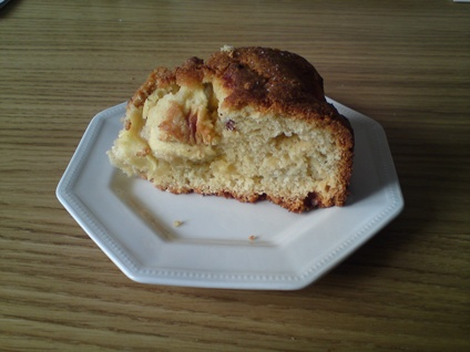 Apple cake that has most likely been eaten by now being as it was made months ago