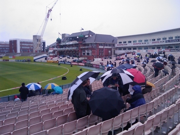 Basking in the permafrost at Old Trafford Cricket Ground